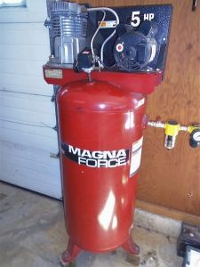Air Compressor, Power Mate 5 HP, 15 Amp, 230 V, 60G Tank